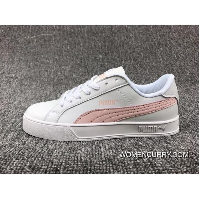 41b205af8209 New Style 80-Puma SMASH VULC Sneakers White Pink