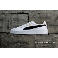 Simplified Channel Authentic Puma Basket Platform Rihanna 2 Full Skin White Black 364040-05 New Style