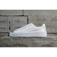 Channel Authentic Puma Basket Platform Rihanna Simplified 2 Silver Head White 366169-01 Top Deals