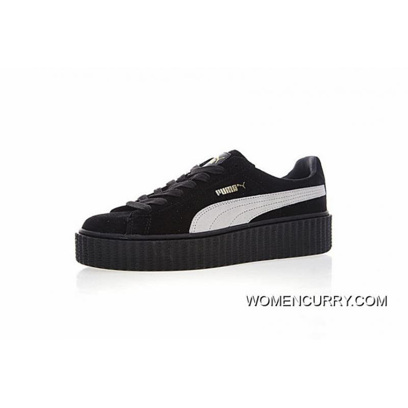 pretty nice f88c4 d64ad Women Shoes Details Version Rihanna X Puma Fenty Suede Cleated Creeper  Early Generation Of All-match Flatform Sneakers Suede All Black White  Standard ...