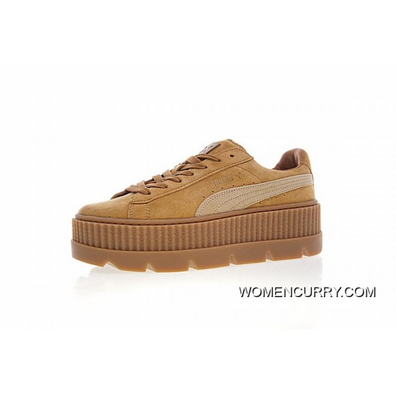 finest selection 15674 0c322 Free Shipping Women Shoes Details Version Rihanna X Puma Fenty Suede  Cleated Creeper Flatform Sneakers Michael Brown In 366268-02