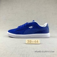 Puma Men Leisure Sneaker Md Outsole Pig Leather Ocean Blue New Style