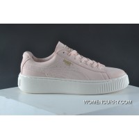 Puma Suede Platform Gold Flatform 2 All-match Shoes Series Barbie Powder Online