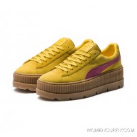 FENTY SUEDE CLEATED CREEPER WOMENS PUMA Lemon-Carmine Rose-Vanilla Ice Discount