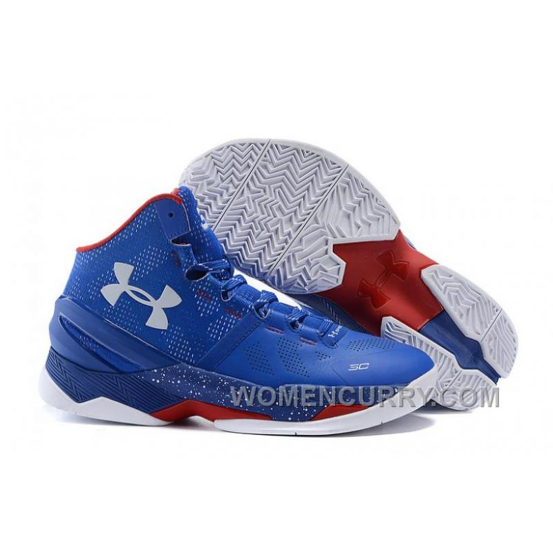 "best service e7530 3ca6f Under Armour Curry 2 ""Providence Road"" Blue White Red Shoes For Sale Online"