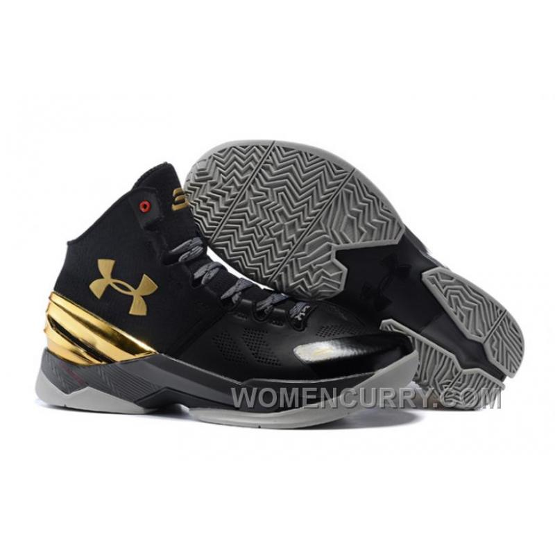 7b0190a3fc50 USD  85.69  259.75. Under Armour Curry 2 Black Chrome Gold Shoes For Sale  ...