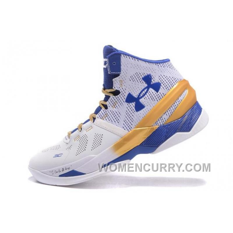 under armour curry 2 white blue gold cheap sale xmas deals