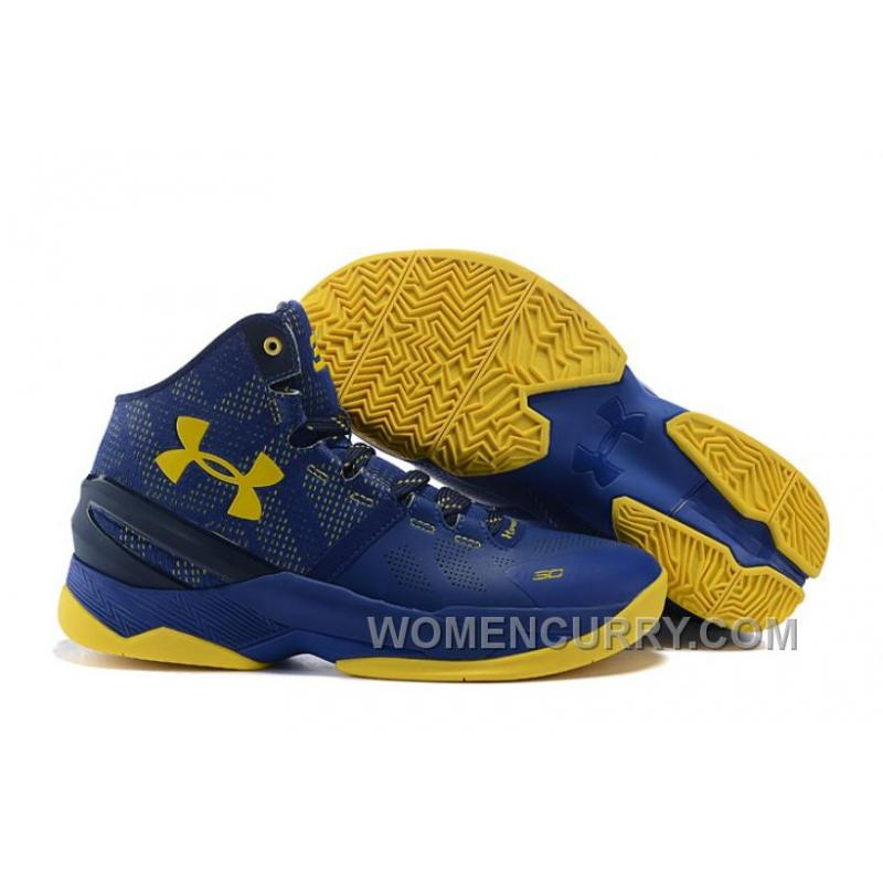 "reputable site 4f322 93f7a Under Armour Curry 2 ""Dub Nation"" Blue Yellow Shoes For Sale Xmas Deals"