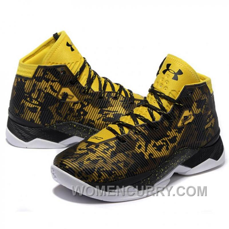 best website 79762 40d1b Under Armour Stephen Curry 2.5 Black Yellow Basketball Shoes New Release