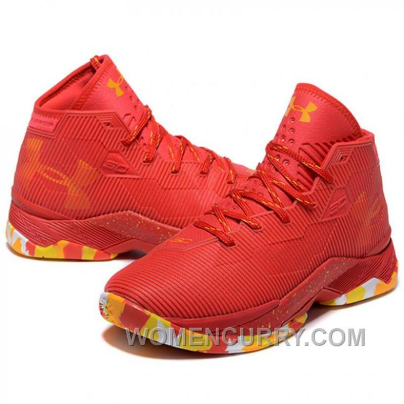 huge selection of eba3a b6bdd Under Armour Stephen Curry 2.5 Red Basketball Shoes For Sale