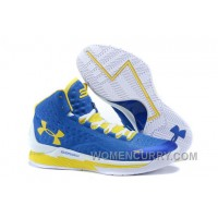 "Discount Under Armour UA Curry One ""Home"" Blue Yellow Shoes For Sale"