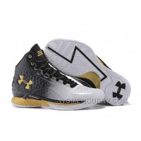 "Online Under Armour UA Curry One ""MVP"" White/Black-Gold Shoes For Sale"