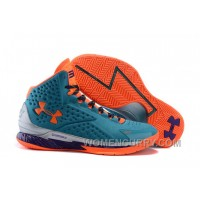 New Arrival Under Armour UA Curry One Hyper Blue/Purple-Blitz Orange Shoes For Sale