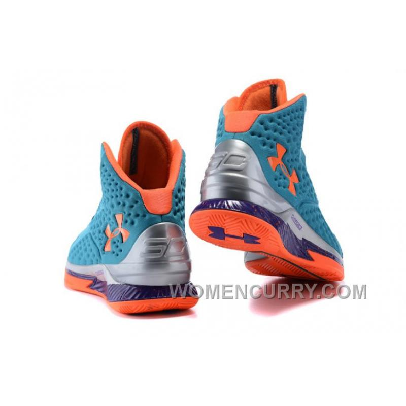 ... New Arrival Under Armour UA Curry One Hyper Blue Purple-Blitz Orange  Shoes For ccffe10cef52