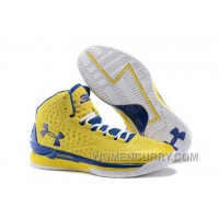 "New Arrival Under Armour UA Curry One ""Playoff"" PE Yellow/Royal Blue Shoes For Sale"
