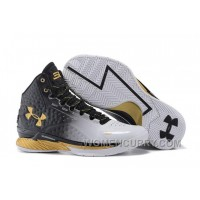 Under Armour UA Curry One (1) MVP White/Black-Gold New Arrival