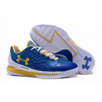 Womens Under Armour Curry One Low Royal Blue Yellow White Online