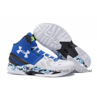 """Camo"" Under Armour Curry 2 White Blue Black New Style"