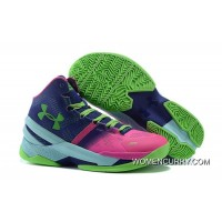 'Northern Lights' Under Armour Curry 2 Rebel Pink/Purple Panic-Poison Green New Release
