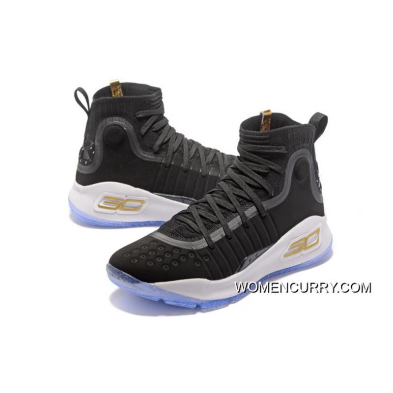 various colors 13a4a ac74d Under Armour Curry 4 Basketball Shoes Black White New Release
