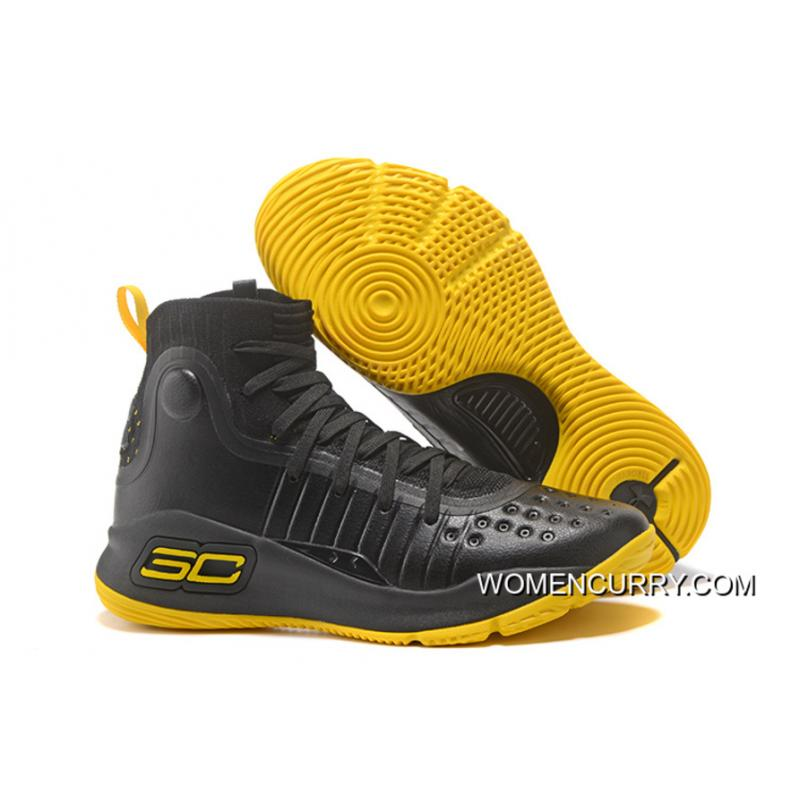 35514d0b77 ... Under Armour Curry 4 Basketball Shoes Black Yellow Top Deals ...