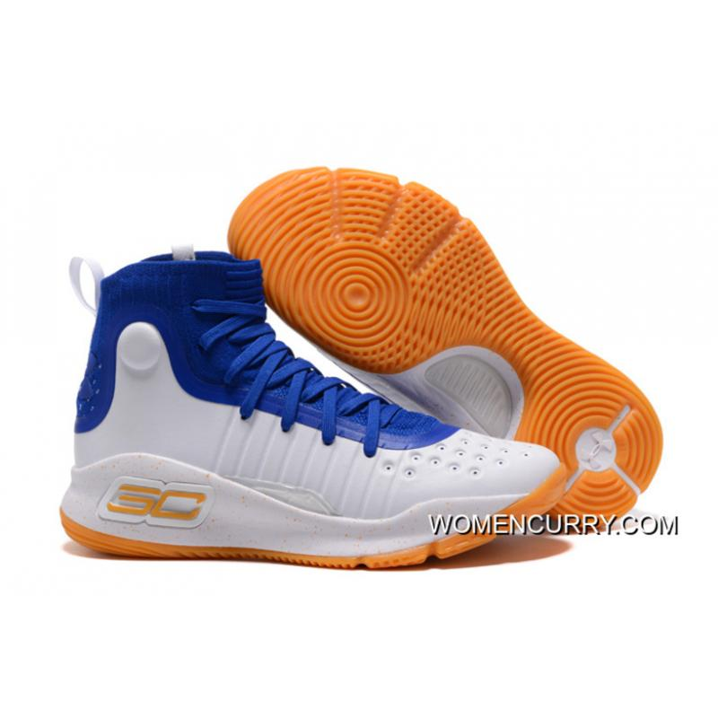Under Armour Curry 4 Basketball Shoes Blue White Orange ...