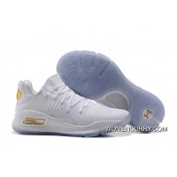 """Under Armour Curry 4 Low """"Chef White"""" White/Gold Fast Shipping Discount"""