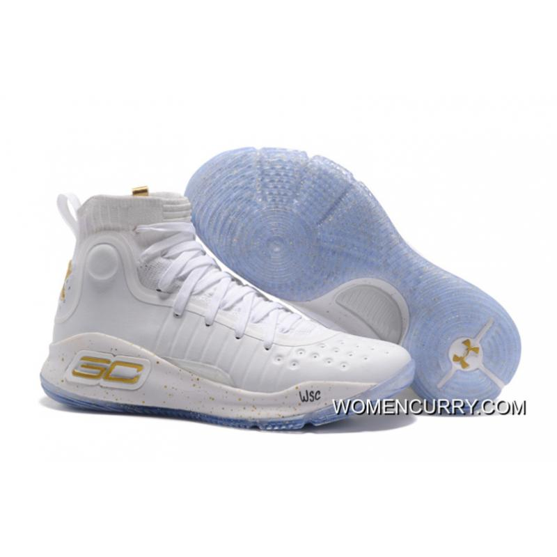 detailed pictures b45cf e768e Under Armour Curry 4 White Gold NBA Finals Men Sneakers Copuon Code ...