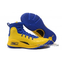 Under Armour Curry 4 Yellow/Blue Black Sneakers On Sale Super Deals