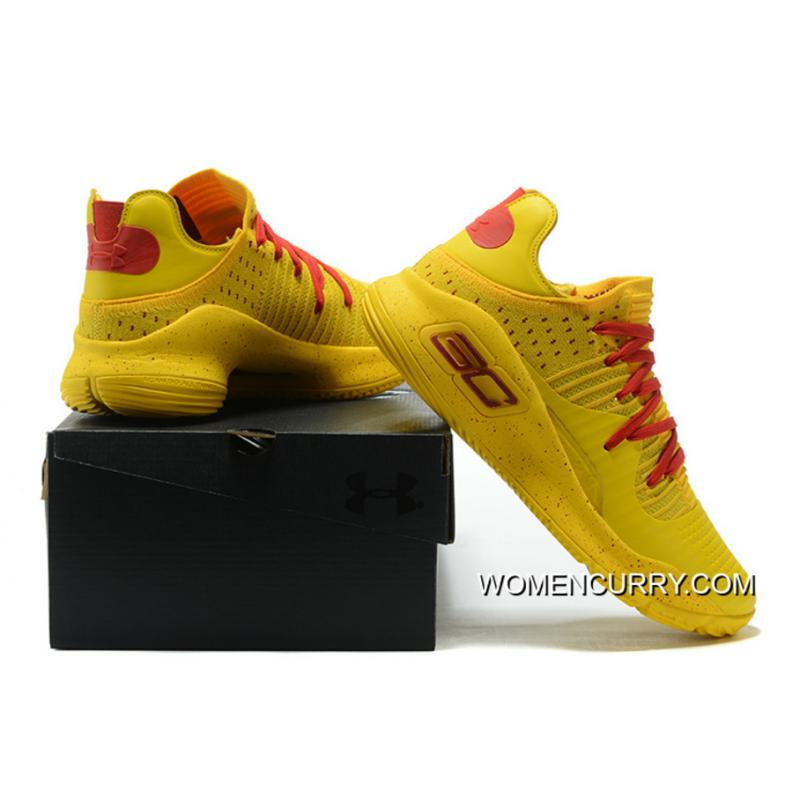 "db97a72df45f New Arrival Under Armour Curry 4 Low ""Bruce Lee"" Yellow Red Lastest ..."