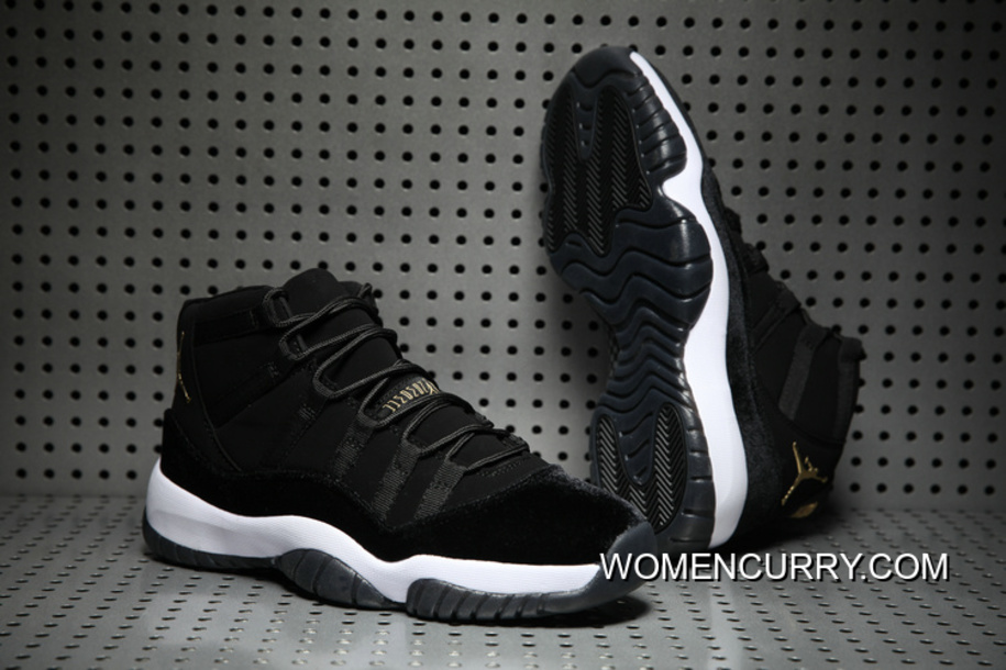 b2ba22aeeb81 Cheap Air Jordan 11 Black Gold White Discount