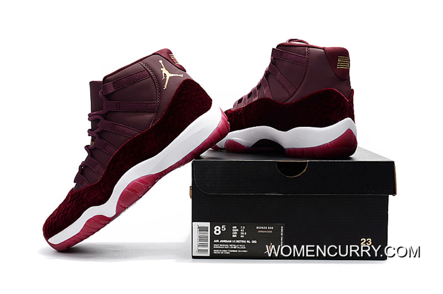 "ee1060d9151 Cheap Air Jordan 11 GS ""Red Velvet"" Night Maroon/Metallic Gold–Night ..."