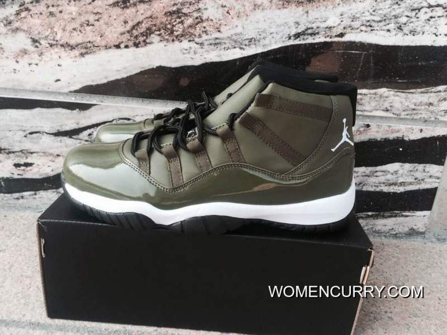finest selection 004f1 ee287 Air Jordan 11 Olive Green Authentic