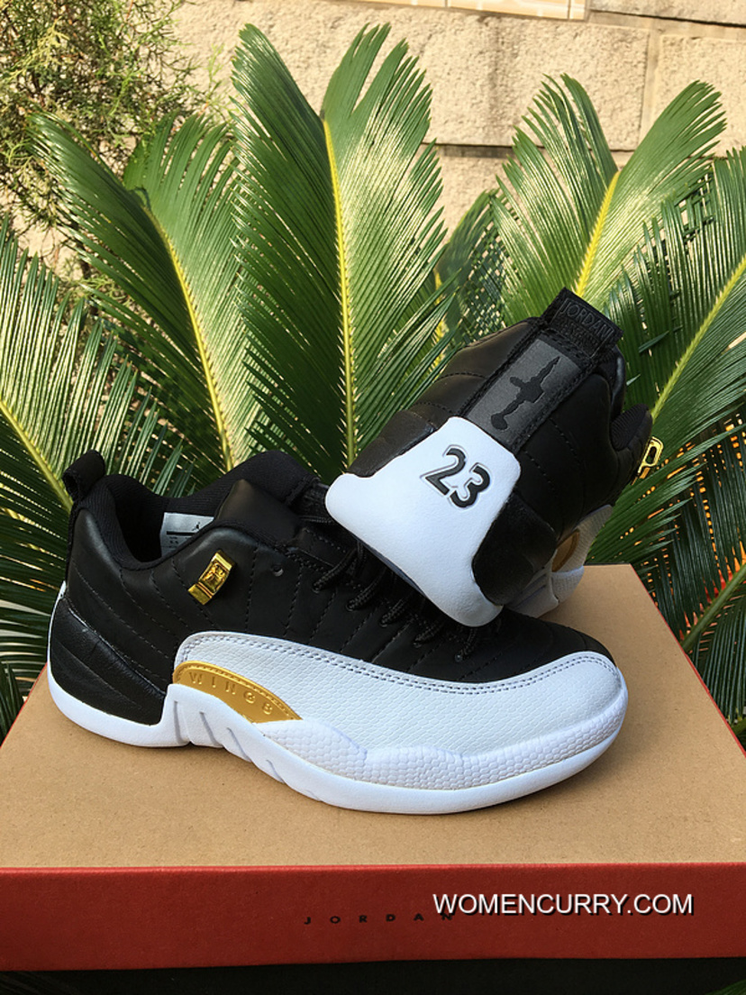 "newest e30ae 6ae5e ""Wings"" Air Jordan 12 Low Black /White New Release"