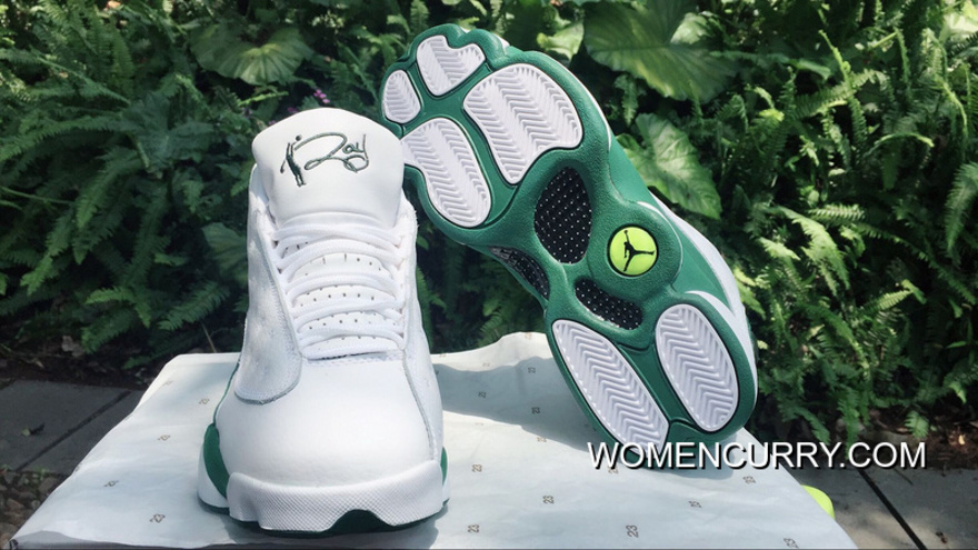 save off b7373 dcf42 Air Jordan XIII (13) Retro  Ray Allen PE  White   Clover Release