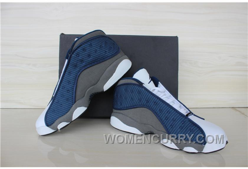 size 40 85e34 b23e7 Mens Air Jordan 13 Low French Blue University Blue-Flint Grey For Sale  Authentic