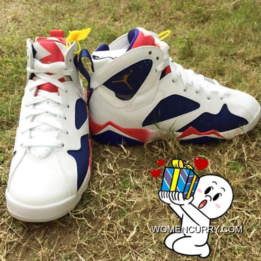 "timeless design 582be 7d12a ""Tinker Alternate"" Air Jordan 7 White/Metallic Gold Coin-Deep Royal  Blue-Fire Red Cheap To Buy"