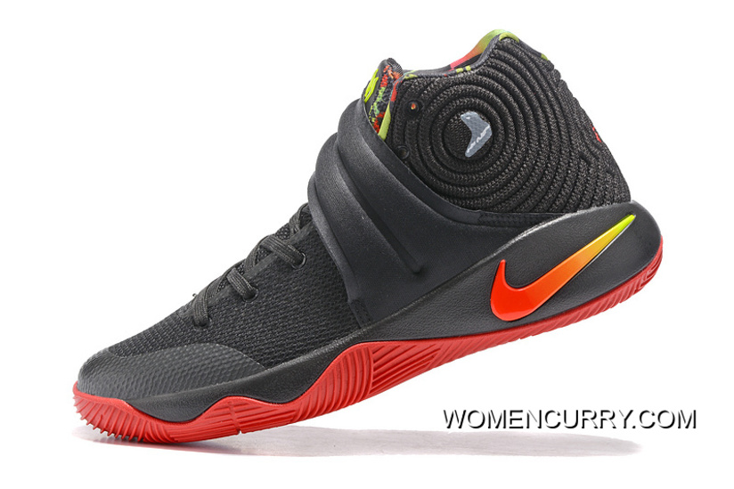 "e0eef2bcd63a Tax Free Girls Nike Kyrie 2 ""Dream"" Black Red"