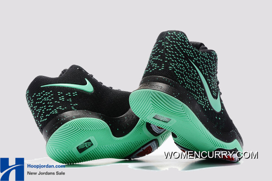 a8cea27673fc Nike Kyrie 3 Green Black PE GS s Basketball Shoes Best
