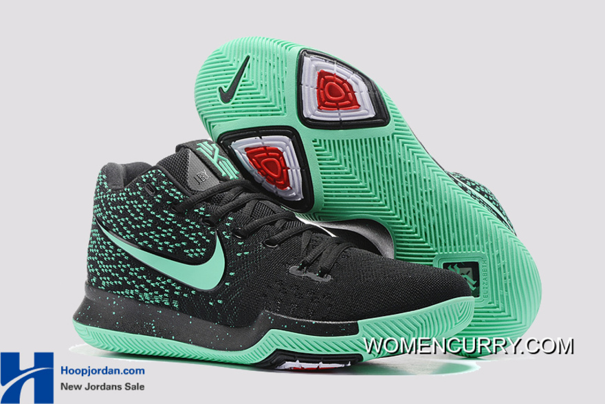 size 40 11f41 0578b Nike Kyrie 3 Green Black PE GS s Basketball Shoes Best, Price   85.69 -  Women Stephen Curry Shoes Online