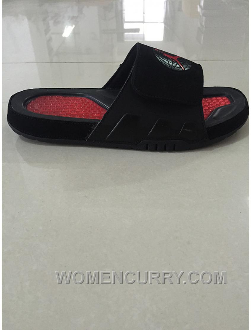 """360a5f877df6 Mens Jordan Hydro 9 Slide Sandals """"Bred"""" Black Red Cheap To Buy XYANd88"""