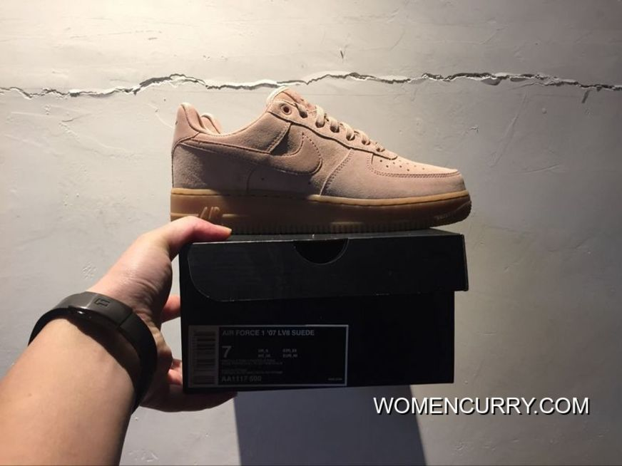 Suede 35 Anniversary Powder Nike Air Force 1 Af1 Low Aa1117-600 Women Shoes  And bf89efc8eb98