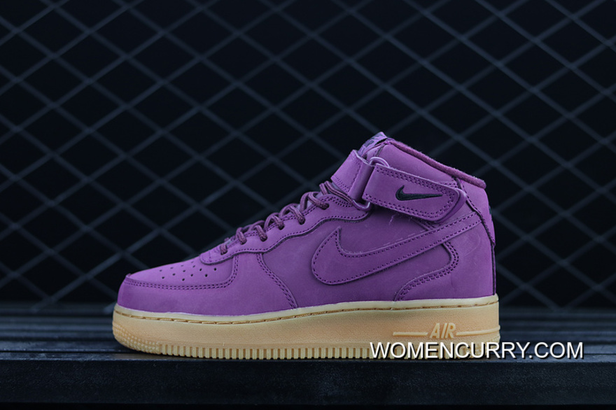 ... 83abf 47838 Lastest Nike Air Force 1 Gs Af 922066-600 Wheat Purple  Casual Sneaker ... 62cba0f82f49