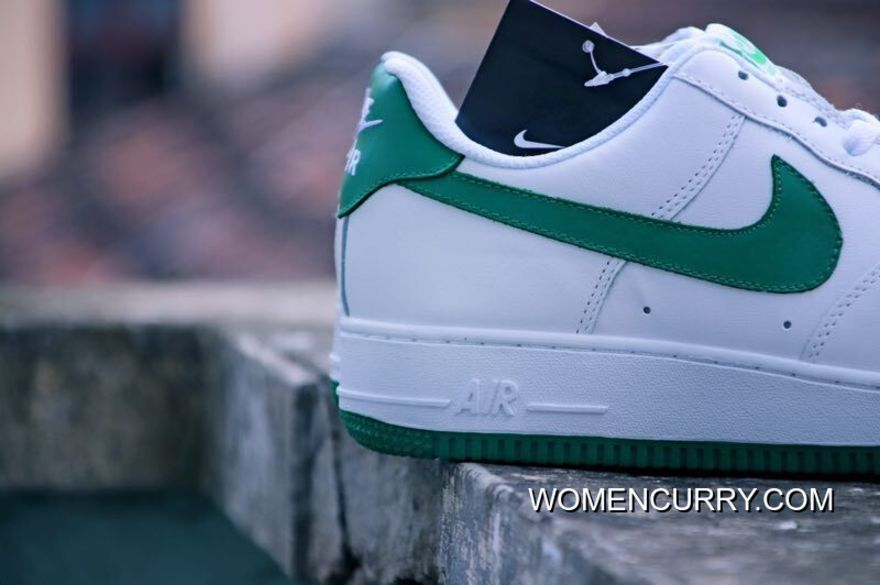 Nike Air Force 1 Low White Green 17007 36 37 5 38 39 40 And 41 42 43 44 45 Full Grain Leather Top Deals