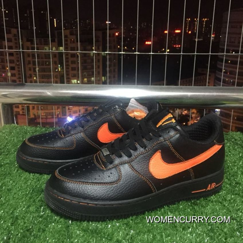 Authentic Nike Af1 Vlone Air Force 1 Black Orange Chen One Limited  Aa5360-001 9d9546e38