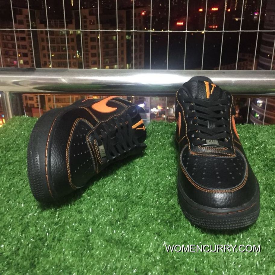Authentic Nike Af1 Vlone Air Force 1 Black Orange Chen One Limited Aa5360 001