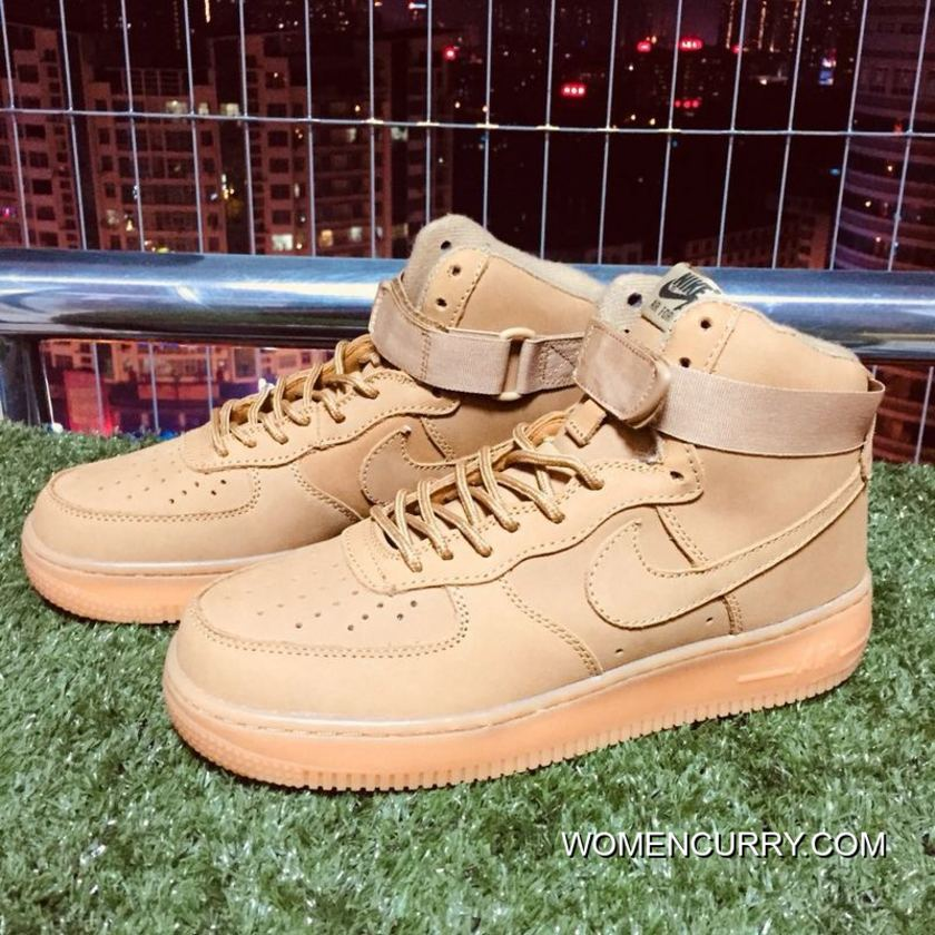 Nike Air Force One 1 Elk Skin Af1 Wheat Color 882096-200 Top Deals ... 7d1156cf4ca4