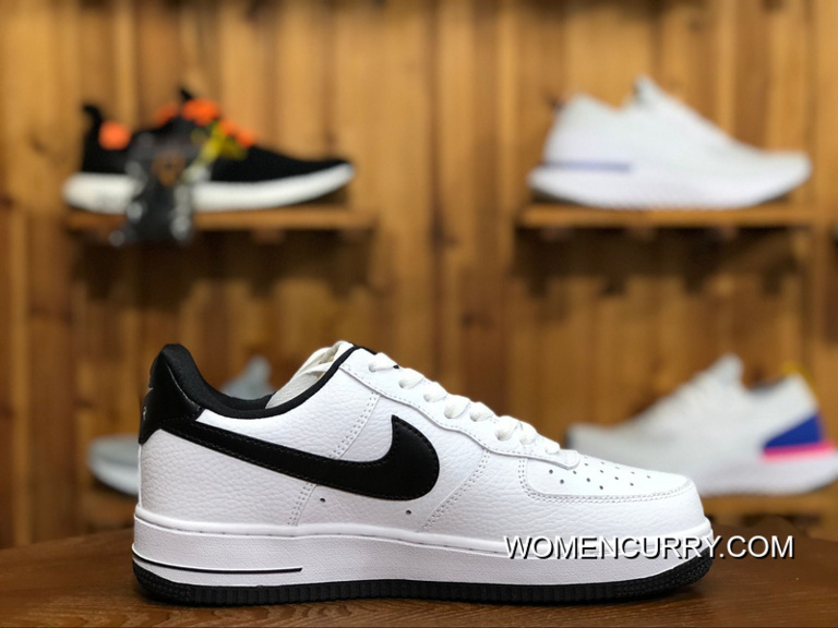 Nike Air Women Shoes And Men Shoes AF1 Air Force One Sneakers White Black  AA0287- e46ff9d69584