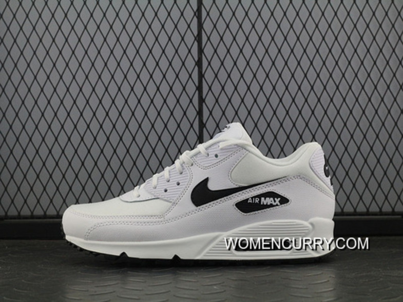 big sale 3b362 cd2cf Nike Air Max 90 Essential White Black Men Sports Shoes 325213-131 Copuon  Code