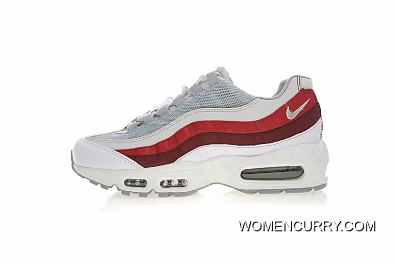 9dffbee3c9 Discount Men Shoes Version Nike Air Max 95 Retro Zoom Jogging Shoes White  Wine Red Brown
